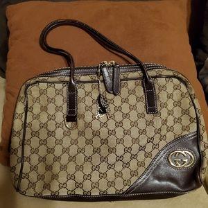 Vintage Gucci Britt Medium Boston Bag